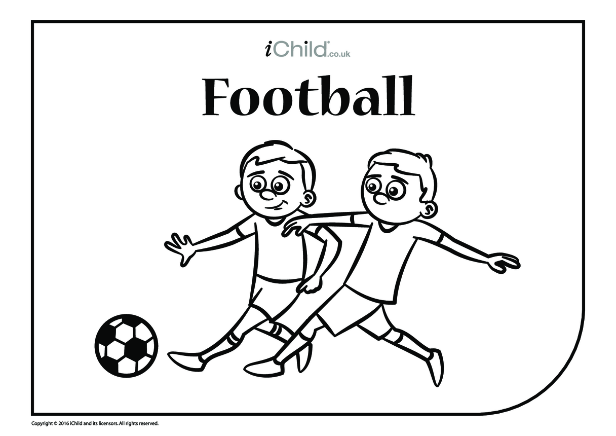Football Colouring in Picture