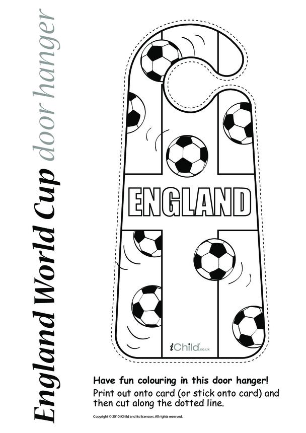World Cup England Football Door Hanger