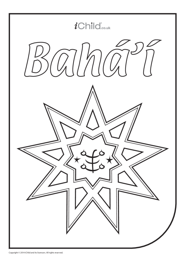 Bahá'i Colouring in Picture