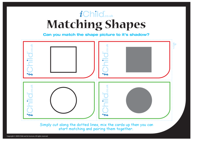 Thumbnail image for the Matching Shapes activity.