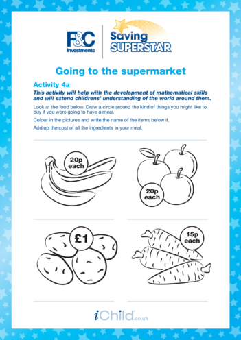 Thumbnail image for the Under 5 years (4a) Going to the Supermarket activity.