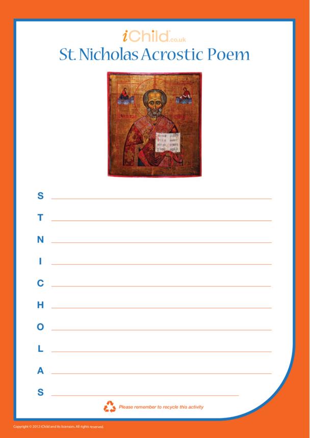 St. Nicholas Acrostic Poem