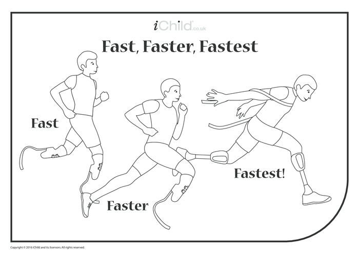 Thumbnail image for the Fast, Faster, Fastest Running Race activity.