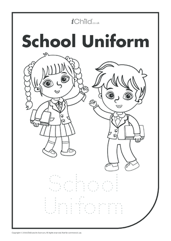 Thumbnail image for the Uniform: Colouring in & Handwriting activity.