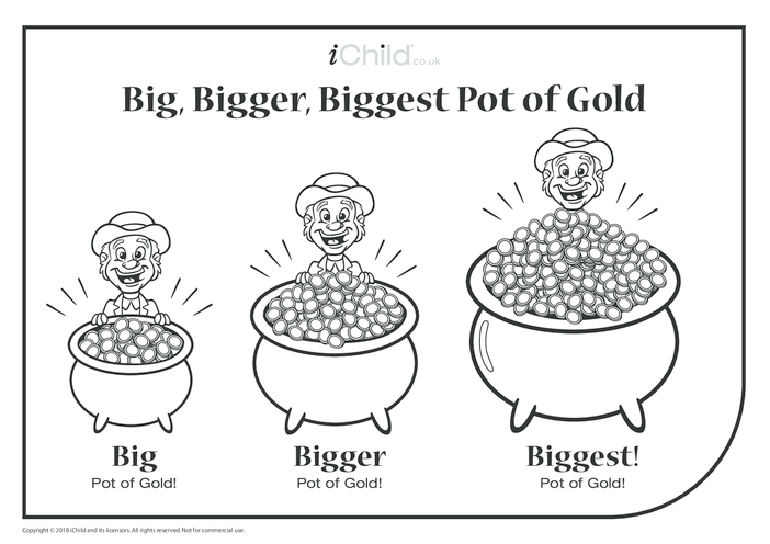 Thumbnail image for the Big, Bigger, Biggest Pot of Gold activity.