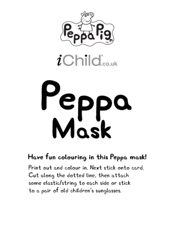 Thumbnail image for the Face Mask: Peppa Pig activity.