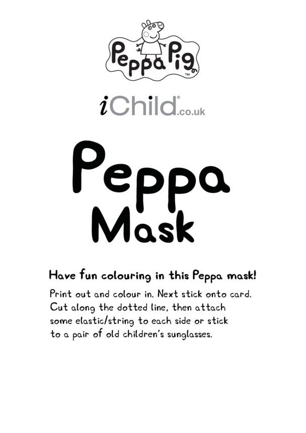 Face Mask: Peppa Pig