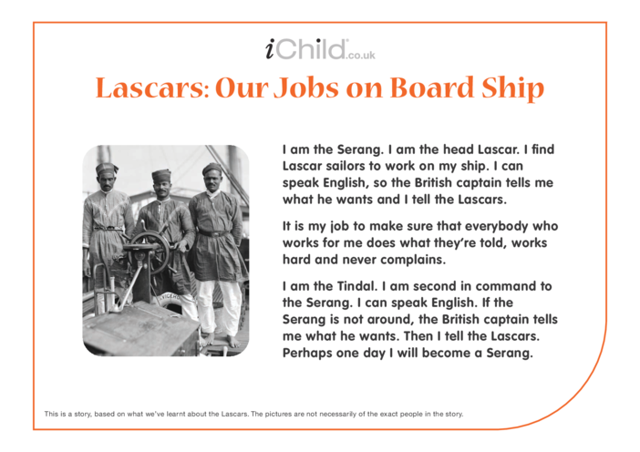Thumbnail image for the Lascars: Jobs on Board Ship activity.