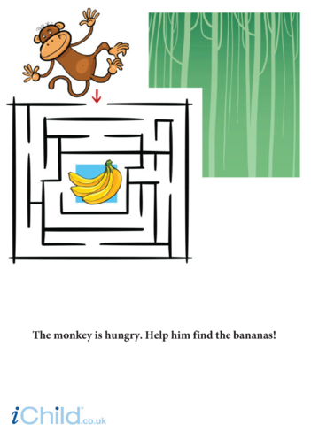 Thumbnail image for the Monkey Maze activity.