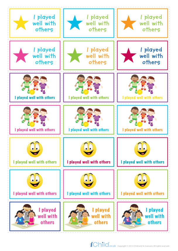 I Played Well with Others Large Sticker Sheet