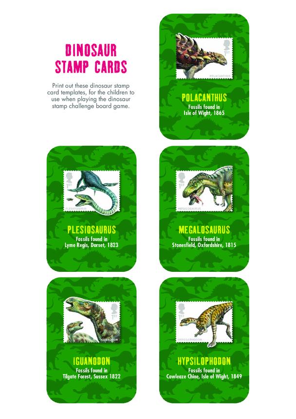 Primary 5) Dinosaur Cards