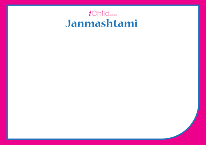 Thumbnail image for the Janmashtami Blank Drawing Template activity.