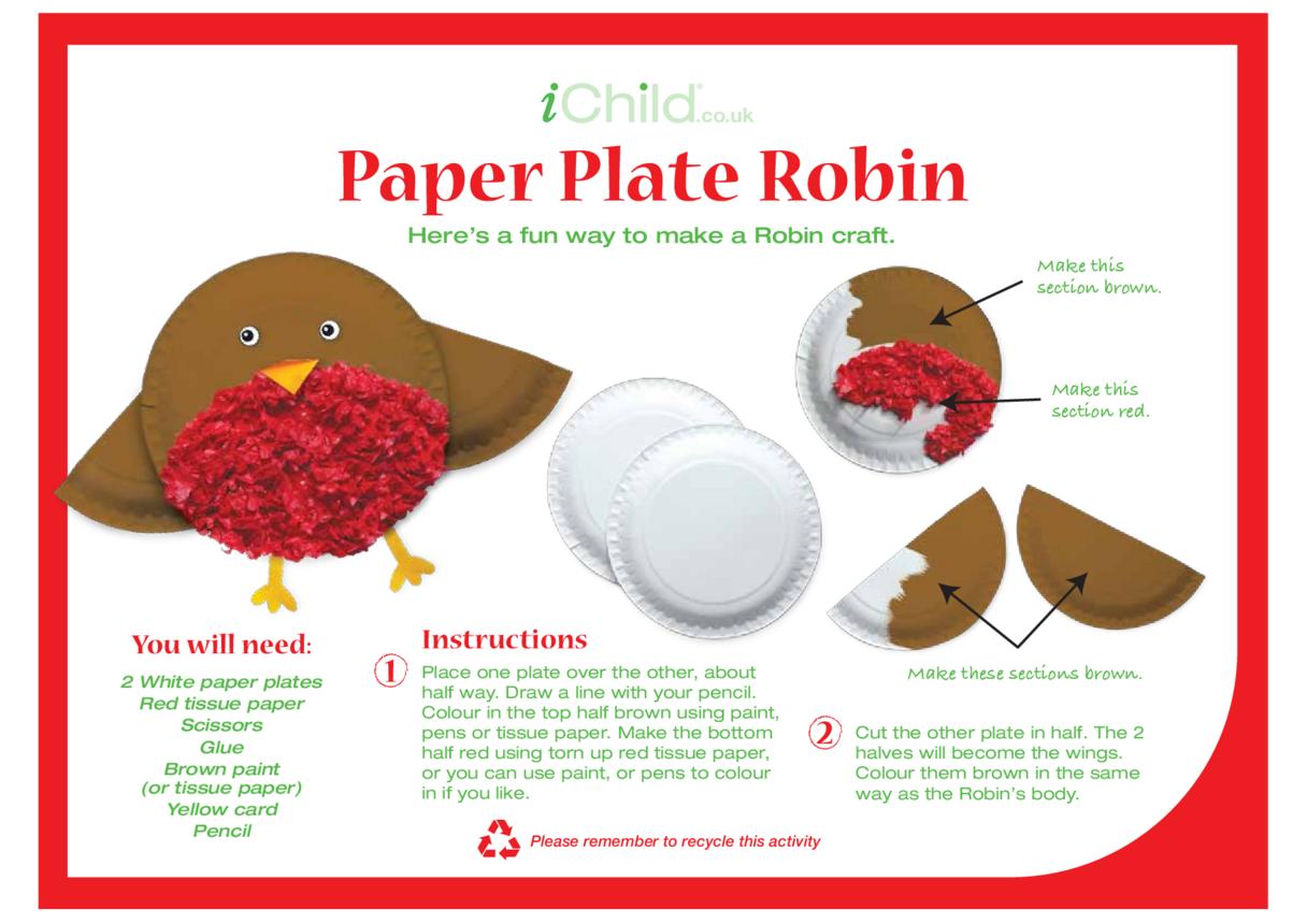 Robin Paper Plate Craft