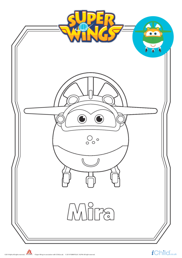 Super Wings: Mira Colouring in Picture (Plane Form)