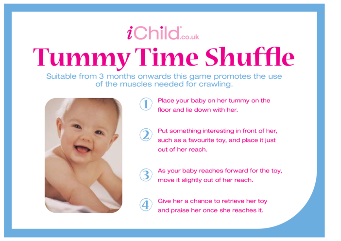 Thumbnail image for the Tummy Time Shuffle activity.