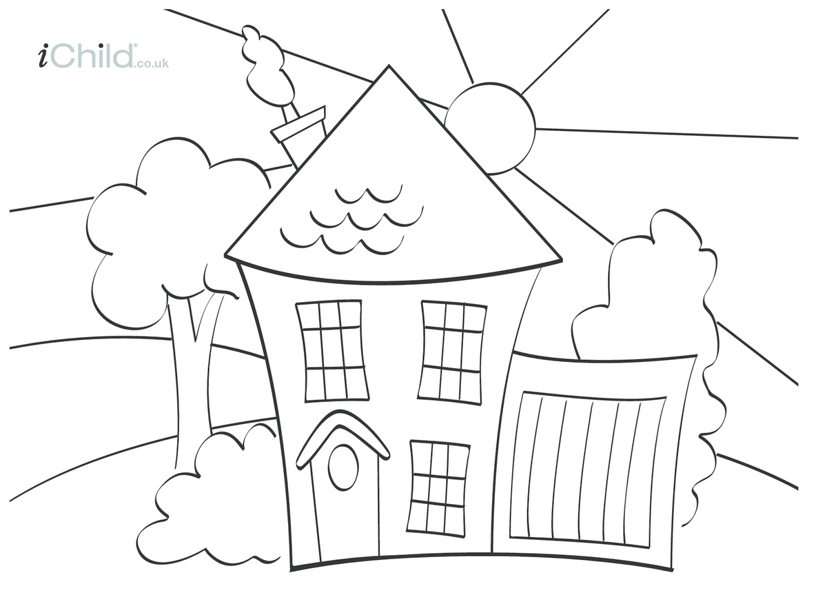 House Colouring in picture
