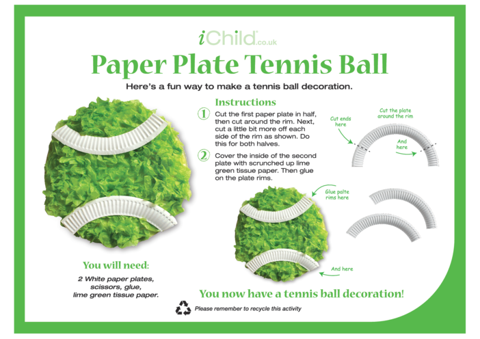 Thumbnail image for the Tennis Paper Plate Craft activity.