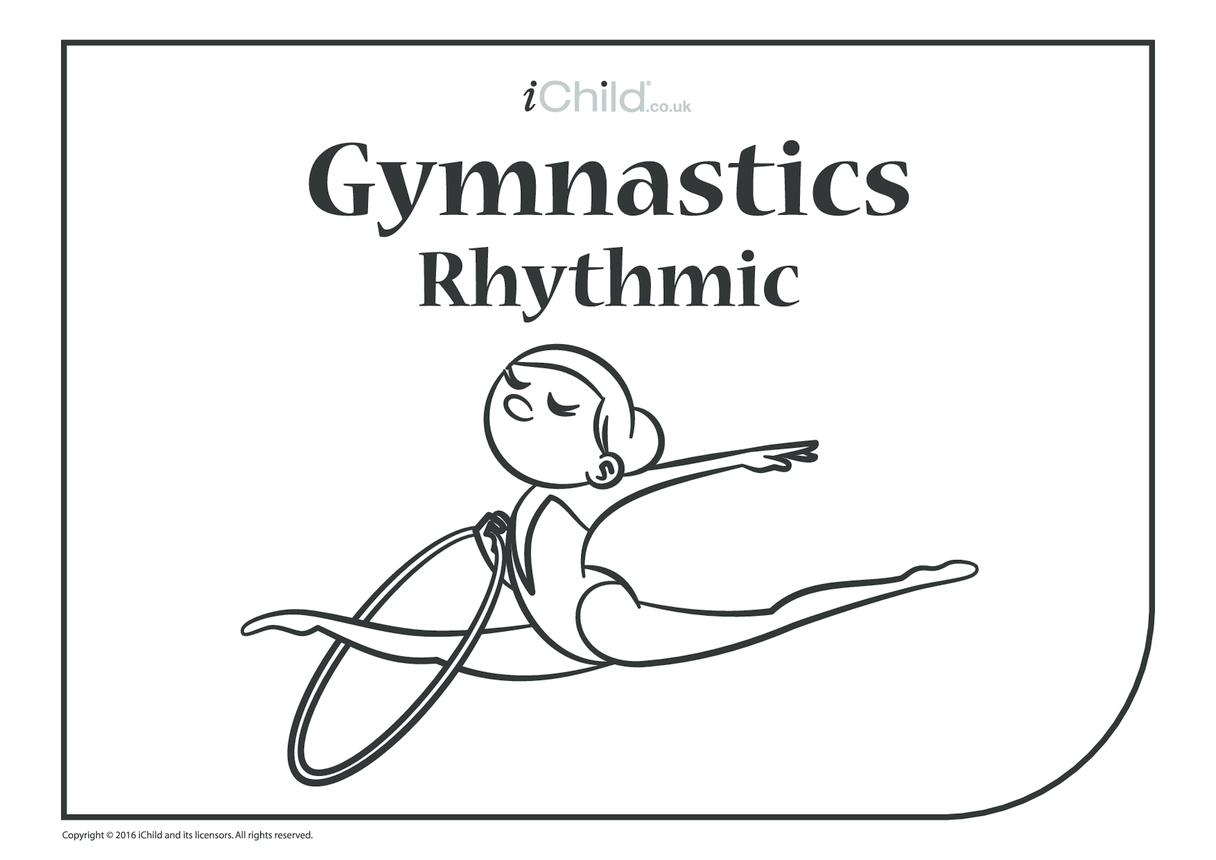 Rhythmic Gymnast (Hoop) Colouring in Picture