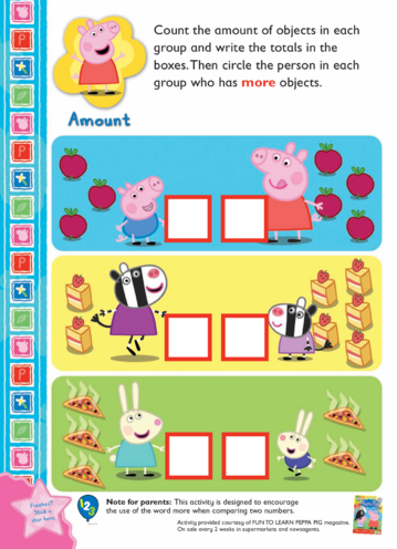 Thumbnail image for the Peppa Pig Counting Activity activity.