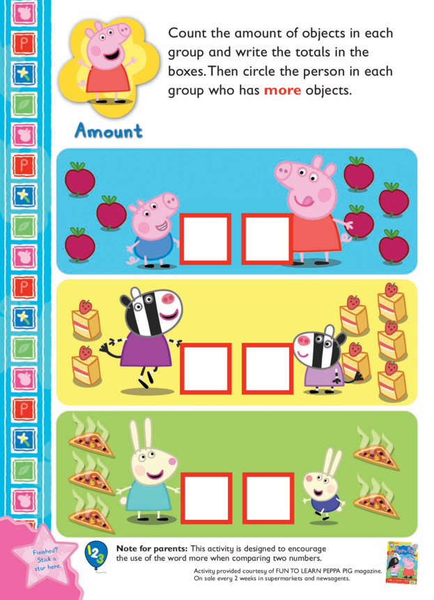 Peppa Pig Counting Activity
