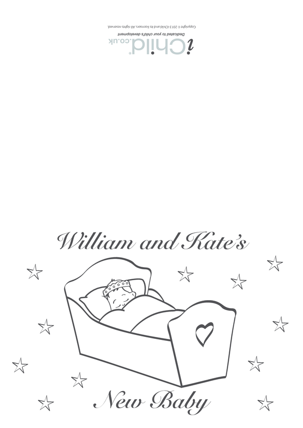 William and Kate's New Royal Baby Card