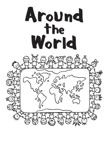 Thumbnail image for the Around the World (black & white) - Signs & Posters  activity.