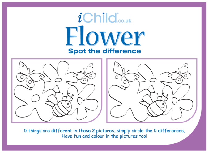 Thumbnail image for the Flower Spot the Difference activity.