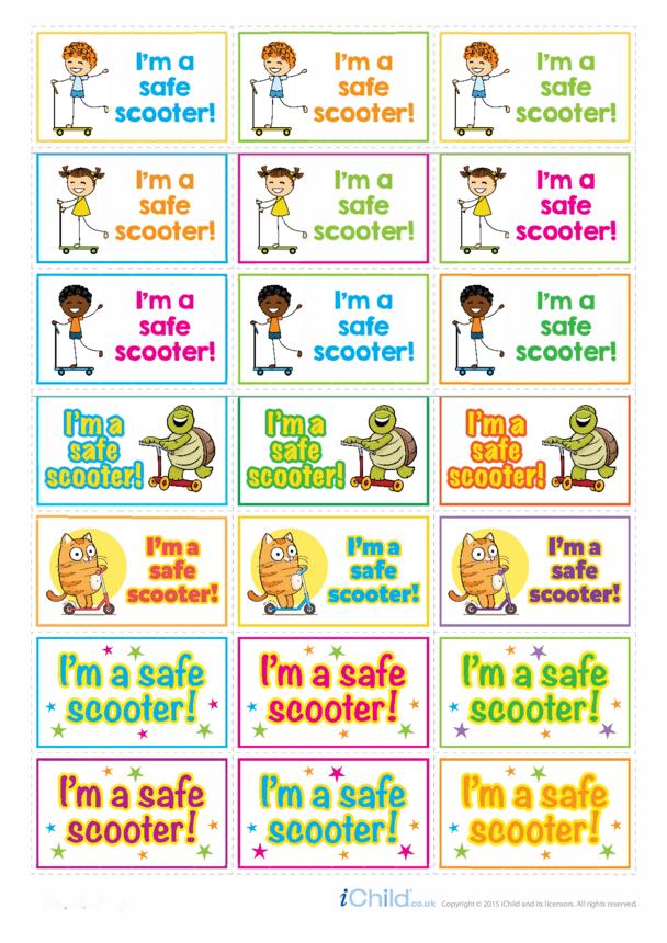 I'm a Safe Scooter Large Sticker Sheet