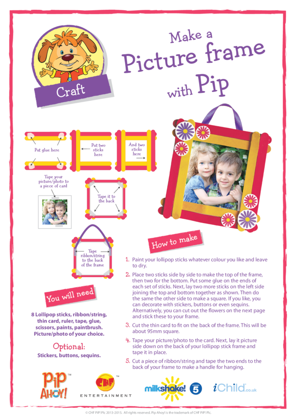 Pip Mother's Day Picture Frame Craft (Pip Ahoy!)