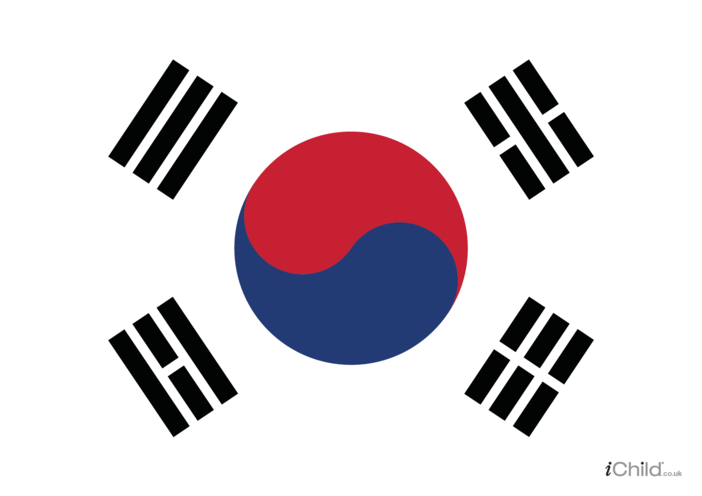 Thumbnail image for the South Korean Flag Poster activity.