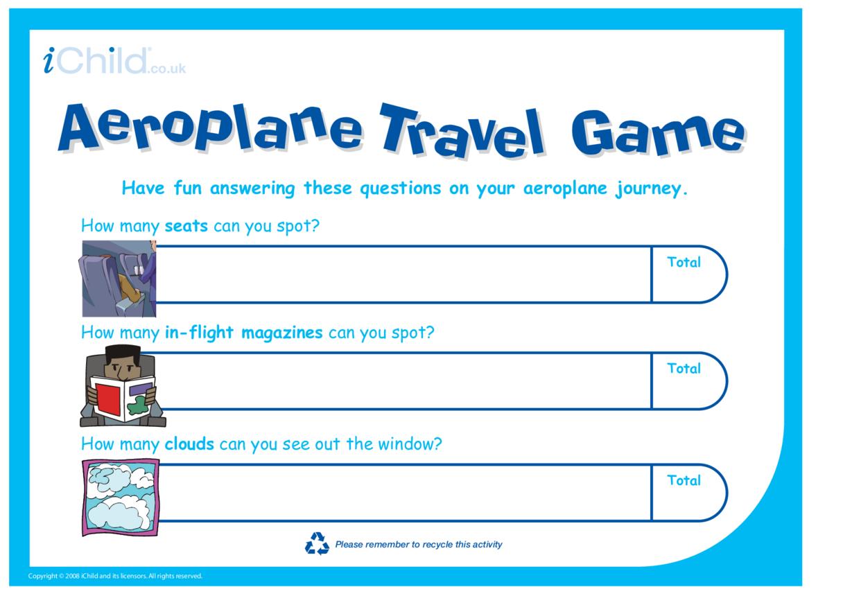 Aeroplane Travel Game