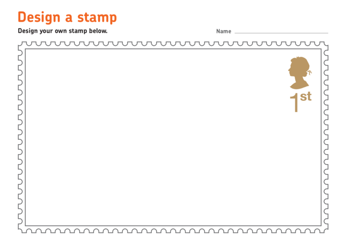 Thumbnail image for the Bob the Builder: Stamp Template with Queen's Head A4 activity.
