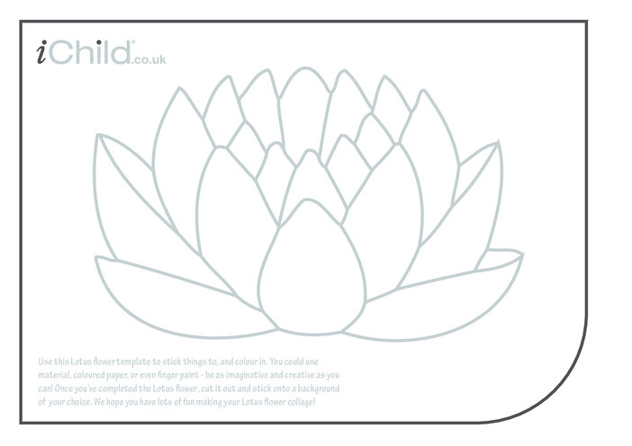 Thumbnail image for the Lotus Flower Collage activity.