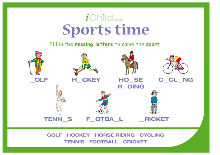 Thumbnail image for the Sports Time activity.