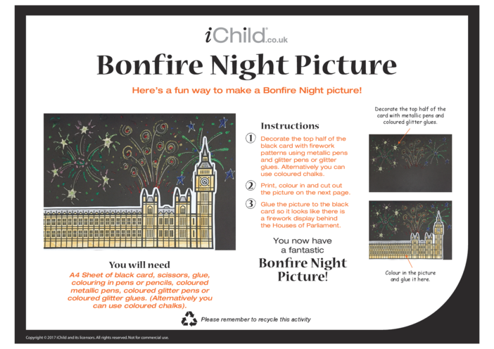 Thumbnail image for the Bonfire Night Picture activity.