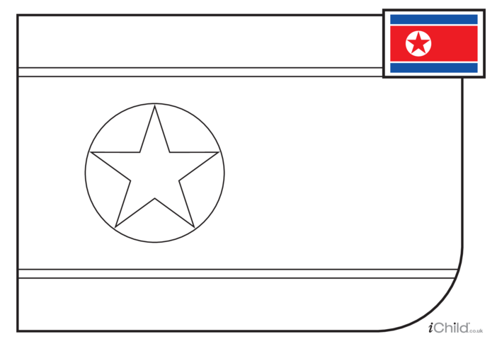 Thumbnail image for the North Korean Flag Colouring in Picture (with little clue) activity.