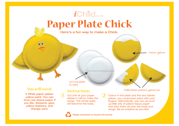 Thumbnail image for the Chick Paper Plate Craft activity.