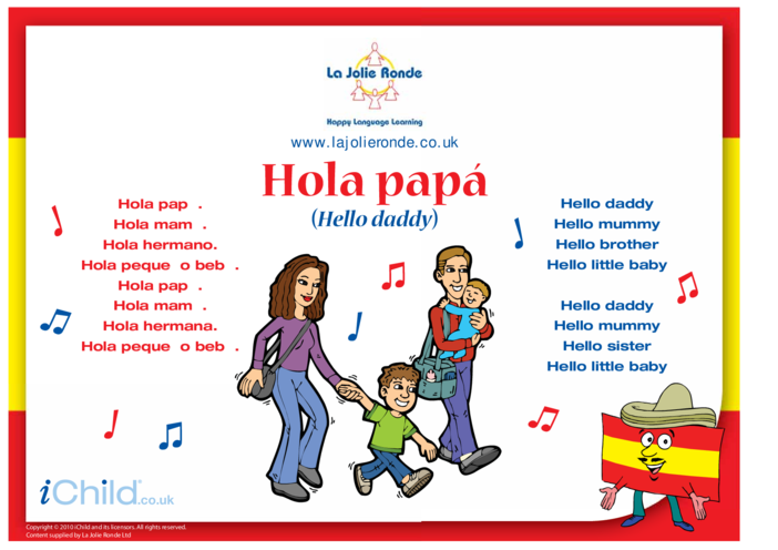 Thumbnail image for the Song in Spanish activity.