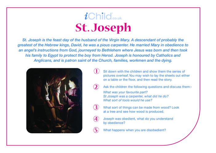 Thumbnail image for the St. Joseph Religious Festival Story activity.