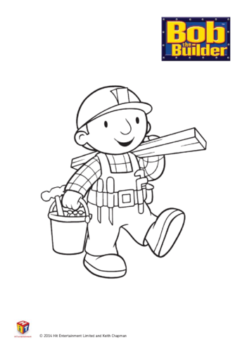 Thumbnail image for the Bob the Builder: Bob Colouring in Sheet activity.