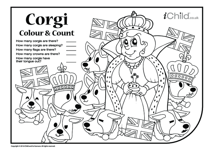 Thumbnail image for the Corgi Colour In & Count activity.