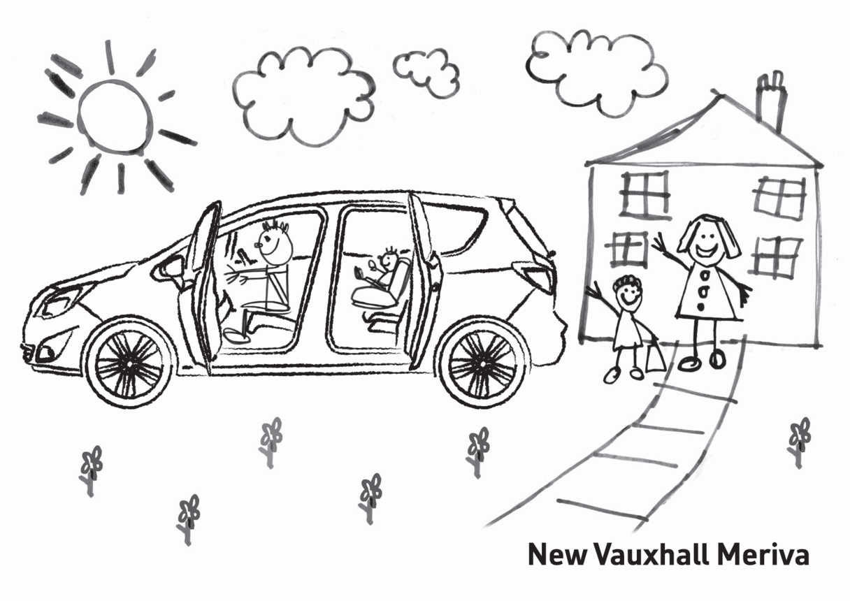 New Vauxhall Meriva Colouring in picture 1
