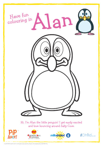 Thumbnail image for the Alan Colouring in Picture (Pip Ahoy!) activity.
