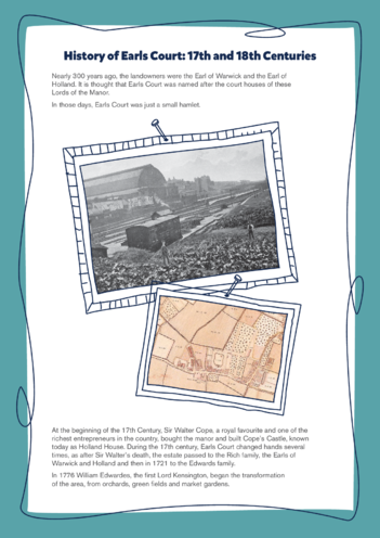 Thumbnail image for the Earls Court: History of Earls Court activity.