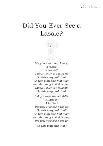Thumbnail image for the Did You Ever See a Lassie Lyrics activity.