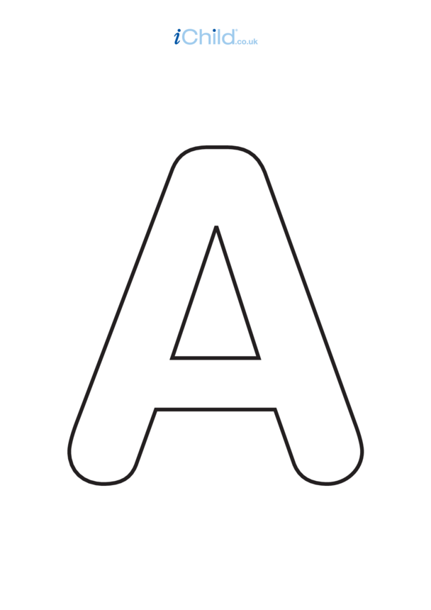 A: Poster of the Letter 'A', black & white
