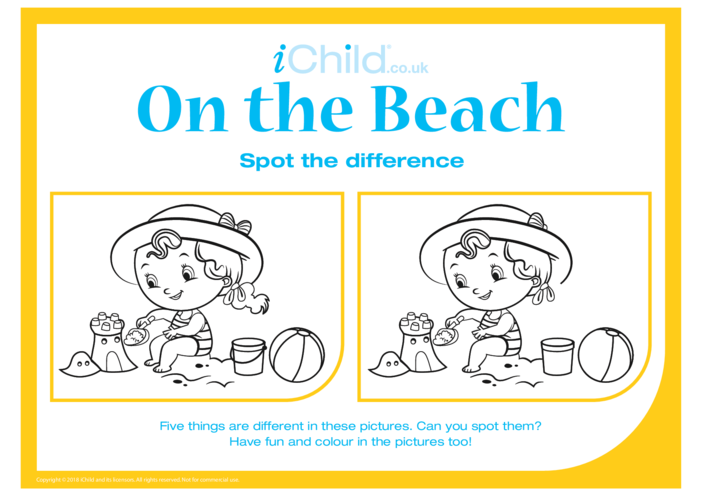 Thumbnail image for the Spot the Difference: On the Beach activity.