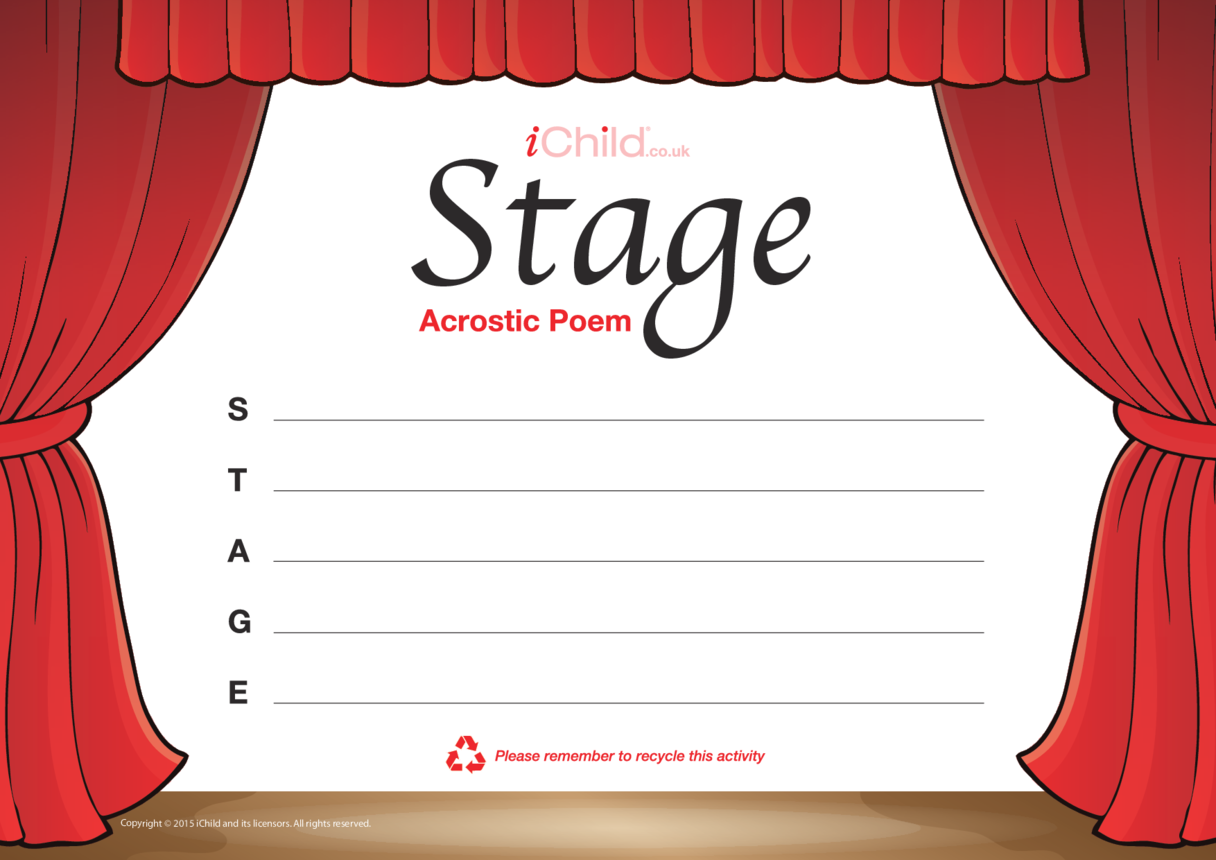 Stage Acrostic Poem