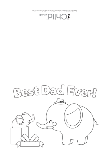 Thumbnail image for the Father's Day Card - Best Dad Ever! activity.
