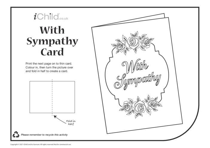 Thumbnail image for the Sympathy Card with Roses (black & white) activity.
